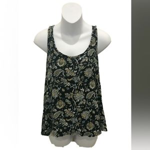 Chelsea & Theodore Black Floral Tank Top